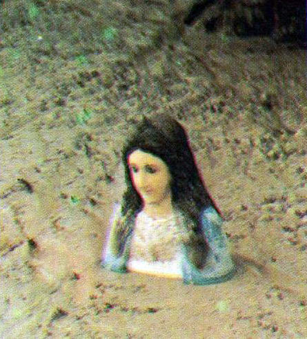 They found the five-foot statue of Ina Poonbato buried in lahar up to the shoulders when Mt. Pinatubo erupted in 1991.